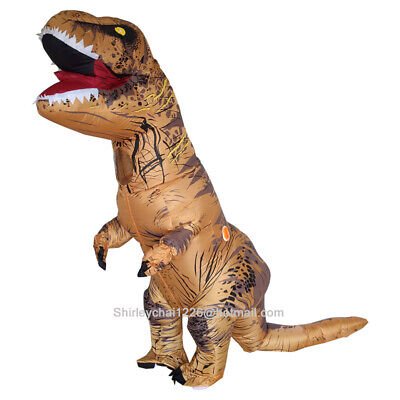 Inflatable T-Rex Dinosaur Halloween Costume Cosplay Adult Kids Night Party Dress