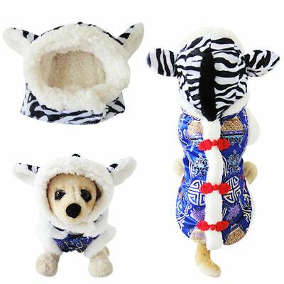 Kleine Haustie Hunde Katze Kostüm KappenHundemütze Kopfbedeckung Zebra Design ()