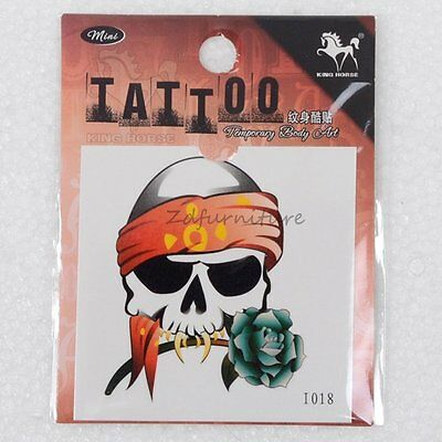 Human Skeleton Skull Waterproof Body Art Temporary Tattoo Sticker Painting