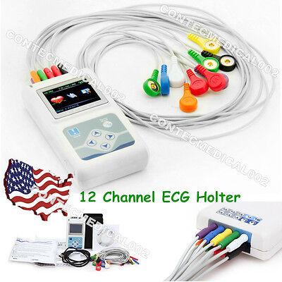 12 Channel Ecg Holter Ecgekg 24 Hours Holter Ekg Monitorsoftwaretlc5000