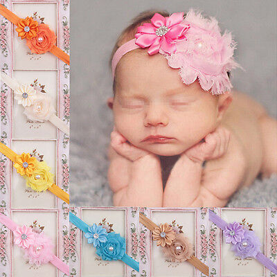 10PC Kid Girl Baby Toddler Infant Flower Headband Hair Bow Band Hair Accessories