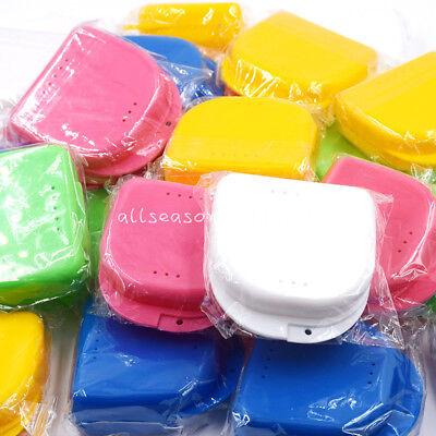 50 Pcs Dental Orthodontic Mouthguard Container Retainer Denture Storage Box Case