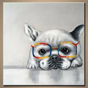 Cute puppy dog with glasses hand painted pop art modern art Adelaide CBD Adelaide City Preview