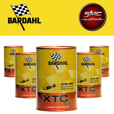 5 Litri Bardahl XTC C60 5W40 Polarplus Fullerene Olio Motore Auto 100% Sintetico