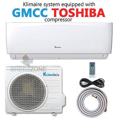18,000 BTU 16.4 SEER Ductless Mini Split Air Conditioner Heat Pump System 16'kit