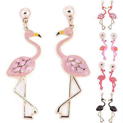 Flamingo Anhänger Ohrringe Tropfen Baumeln Ohrstecker Ohrringe Schmuck Dame CBL