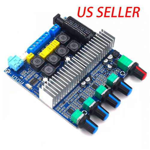 Bluetooth TPA3116 Power Amplifier Board Digital HIFI Module 12-24V 100W+50W+50W