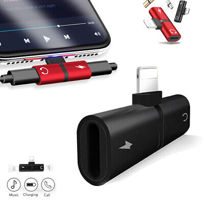 2-Way Splitter Audio Adapter For iPhone 11 X 7 8 SE Dual Earphone AUX & Charger