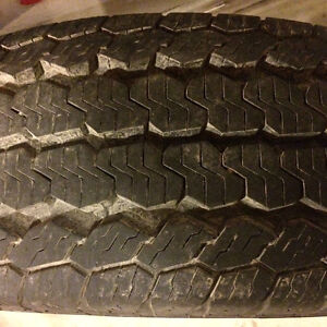 Almost brand new continental light truck tires