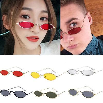 Retro Small Oval Vintage Women Sunglasses Men Eyewear Glasses Metal Frame TOP UK