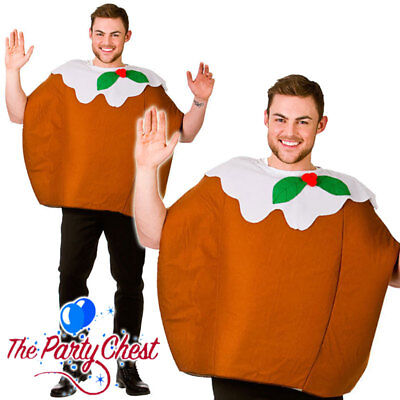 ADULT CHRISTMAS PUDDING COSTUME Funny Christmas Fancy Dress Outfit 4580