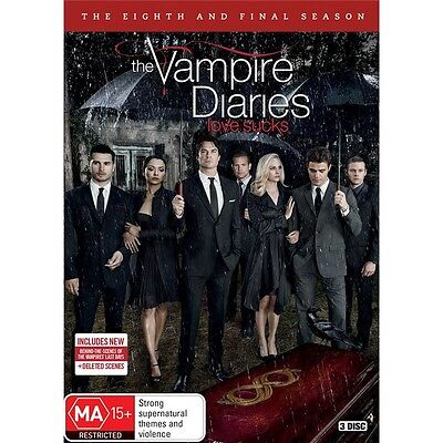 THE VAMPIRE DIARIES-Season 8-Region 4-New AND Sealed-3 Dics Set-TV Series for sale  Shipping to Canada