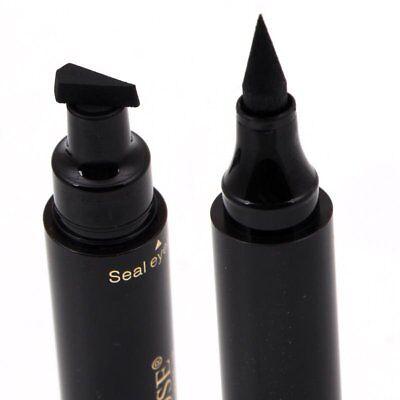 Waterproof Winged Eyeliner Stamp Makeup Cosmetic Eye Liner Pencil Black Liquid
