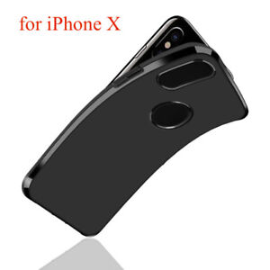 Black Apple iPhone X Luxury High Quality Soft Thin Durable Case