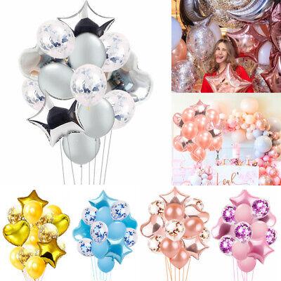 olie Latex Ballon Set Stern Geburtstag Hochzeit Party Dekor (Gold Hochzeit Dekor)