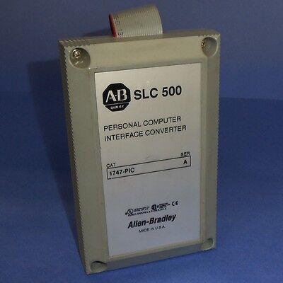 Allen Bradley Slc 500 Personal Computer Interface Converter 1747-pic Ser. A Jh