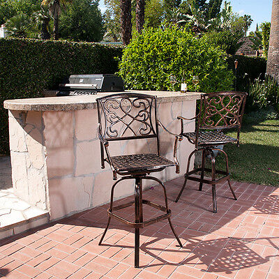 Outdoor Patio Furniture Cast Aluminum Swivel Bar ...