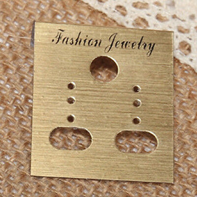 Hot Sale Golden Jewelry Earring Studs Plastic Hanging Holder Display Hang Card