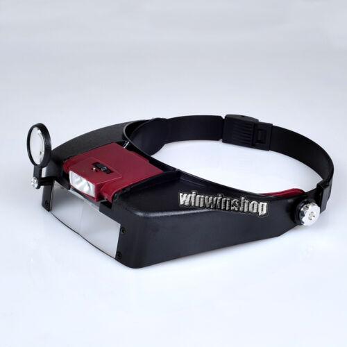 Headset Head Visor Magnifier Loupe Jeweler Dental Lab Magnifying Microscope Sale