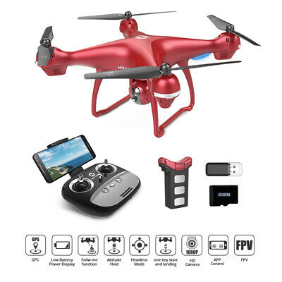 Holy Stone HS100 GPS Selfie Drone WiFi 1080P HD FPV FOV Camera RC Quadcopter RED