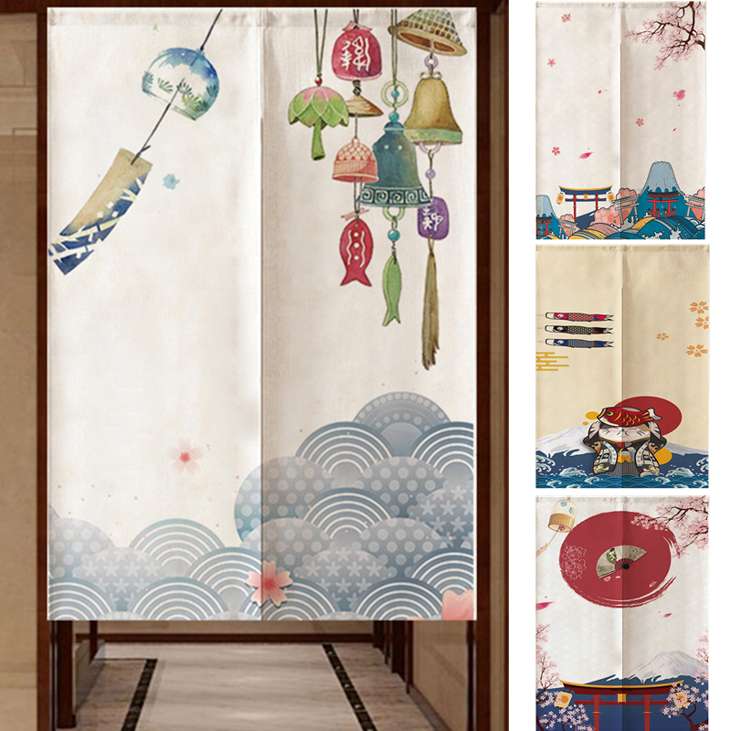 Door Curtain Japanese Noren Tapestry Bedroom Kitchen Doorway Hanging Curtain