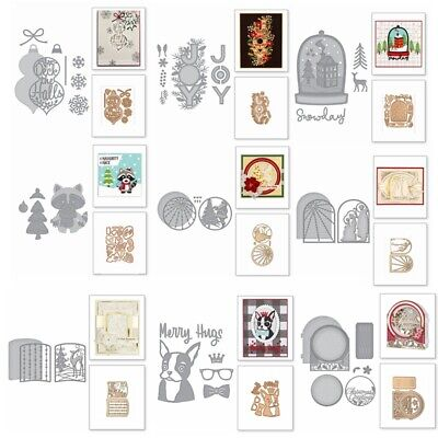 Arch Frame Holiday Letter Metal Cutting Dies Scrapbooking Embossing Paper Card - Paper Embossing