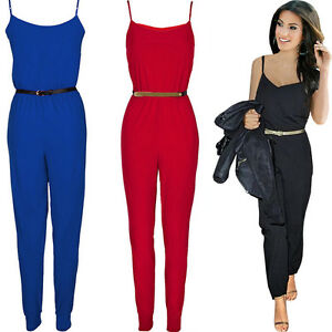 sexy damen jumpsuit overall haremshose sommeroverall 34 36 38 40 42 neu bc113 ebay. Black Bedroom Furniture Sets. Home Design Ideas