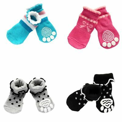 (Lovely Pet Dog Sock Cotton Shoes Anti-Slip Winter Warm Sock Puppy Soft Skid Boot)