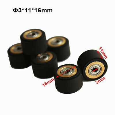 3pc Pinch Roller For Roland Vinyl Cutting Plotter 3x11x16mm Wheel Printer Parts