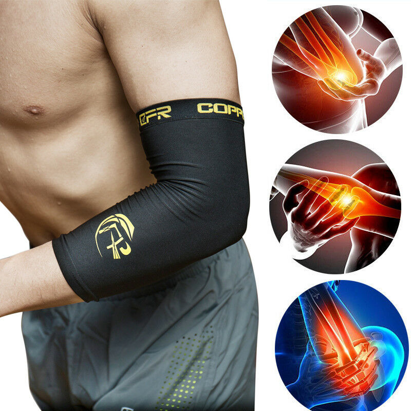 Copper Content Compression Elbow Support Arm Sleeves Fit Bra
