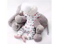 Plush Soft Toy Stuffed Elephant Teddy Pillow Safari Animal Big Christmas Birthday Baby Shower Gift