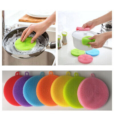Silicone Cleaner Sponge Kitchen Cleaning Tool Bowl/Pan/Dish Wash/Washing Brush
