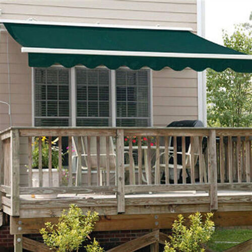 ALEKO Retractable Awning 13' x 10' Patio Awning  Green