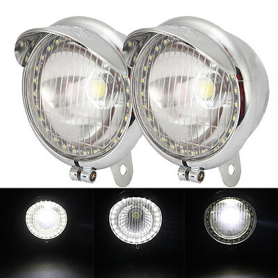 2X LED Driving Passing Spot Fog Light Lamp For Yamaha Road Royal V Star Venture