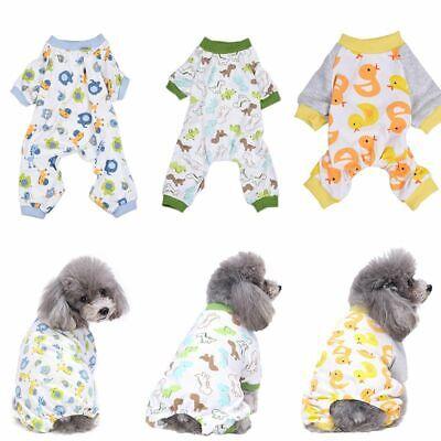 Jumpsuit Pet Dog Clothes (Dog Cotton Pajamas Sleepwear Small Dog Soft Clothes Pet Jumpsuit Coat Apparel )