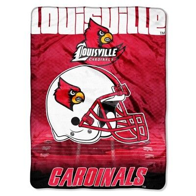 Louisville Cardinals NCAA 60x80 Micro Raschel Plush Throw Overtime Design