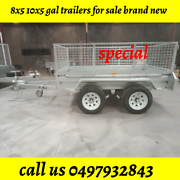 8x5 TDM WITH CAGES FULLY 🔥 DIP GALVANISED TRAILERS Dandenong Greater Dandenong Preview