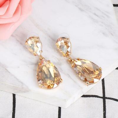 Formal Earrings champagne Crystals Designer Inspired Dangle