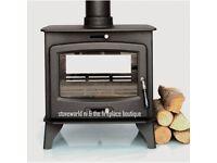 JAN SALE !!! DOUBLE SIDE 14-16KW MULTIFUEL STOVE multi fuel coal wood turf sticks modern stove flue