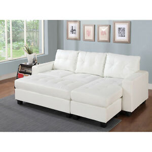 SECTIONNEL (sectional) Cuir Blanc - White Leather