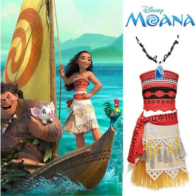 Women Girl Moana Animie Movie Polynesia Princess Dress Cosplay Costume Suit Gift - Movie Costumes For Women