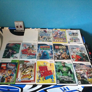 Wii console and accessories and games