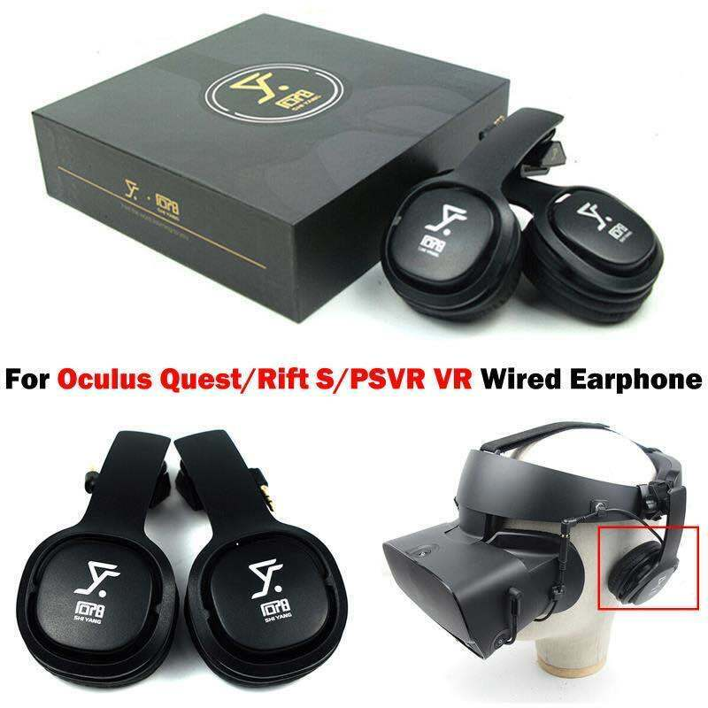 2PCS VR Game Enclosed Headphone Wired Earphone For Oculus Quest/ Rift S/PSVR VR