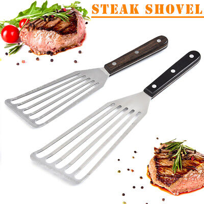Multi-Purpose Stainless Steel Flexible Steak Pancake Slotted Turner Fish Spatula Flexible Pancake Turner