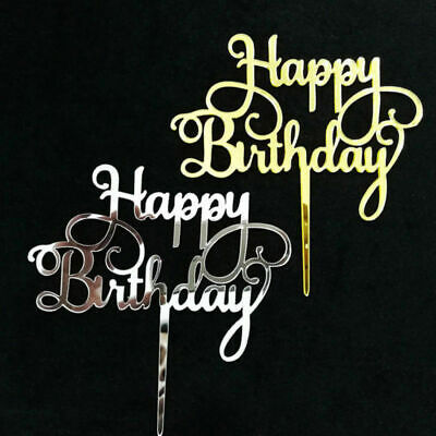 Birthday Cake Topper Happy Birthday Candle Party Supplies Decor Acrylic Durable ()