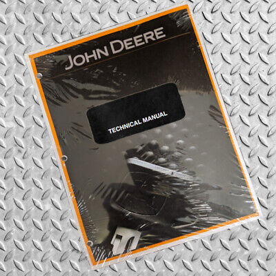 John Deere 4475 5575 6675 7775 Skid Steer Technical Service Manual - Tm1553