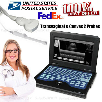 Laptop Ultrasound Scanner Machine Cms600p2 2 Probes Transvaginal And Convexus