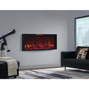 *NEW* Classic Flame 48 in.Stand or Wall-Mount Electric Fireplace