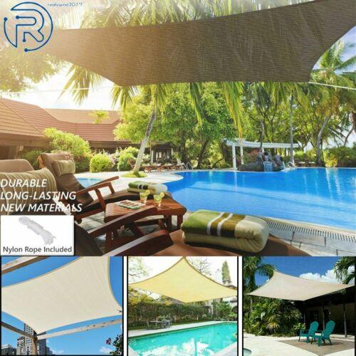 Rectangle Sun Shade Sail Garden Yard Pool Cover UV Block Out