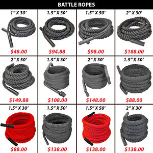 Rope Crossfit Endurance Battle Battling Woven Nylon Covered